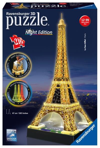 Eiffelturm bei Nacht - 216 Teile 3D-Puzzle Night Edition - Ravensburger 12579