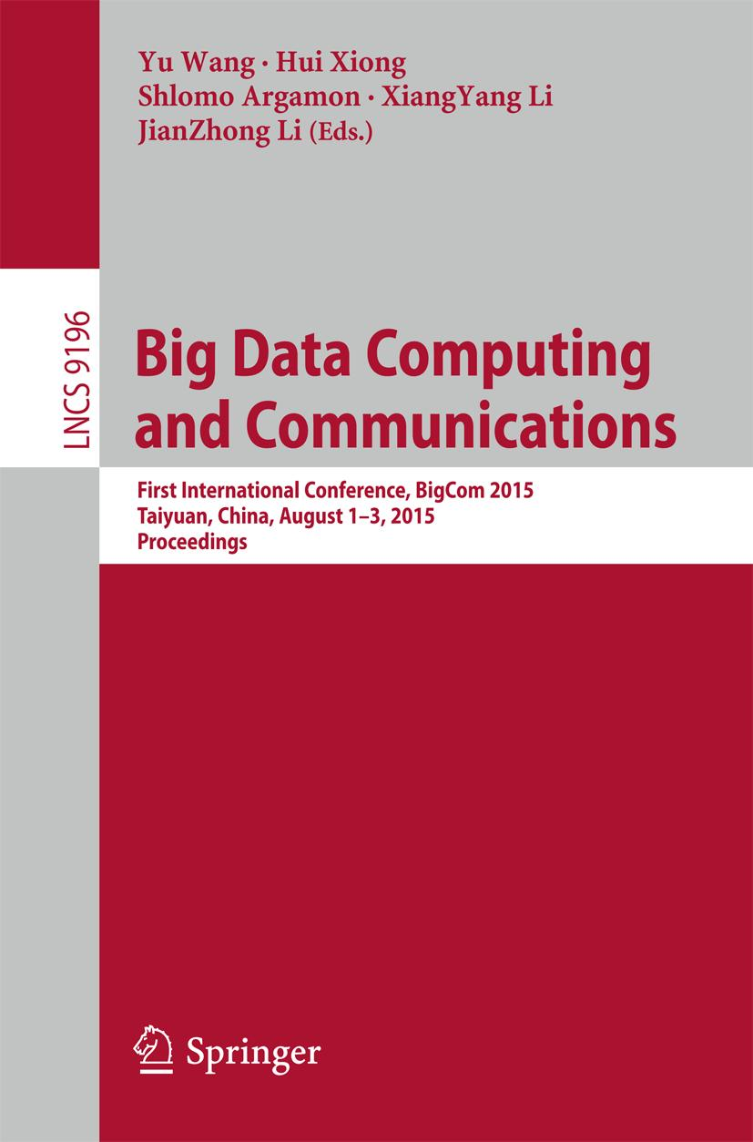 Big Data Computing and Communications Yu Wang