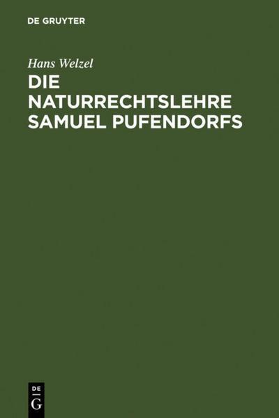 Die Naturrechtslehre Samuel Pufendorfs