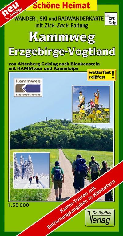 Doktor Barthel Wander- und Radwanderkarten, Wanderkarte und Radwanderkarte Erzgebirgskamm von Altenberg bis Schöneck