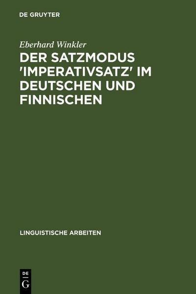 Der Satzmodus 'Imperativsatz' im Deutschen und Finnischen