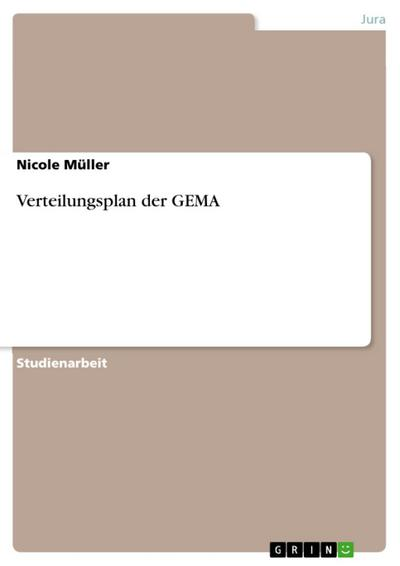 Verteilungsplan der GEMA