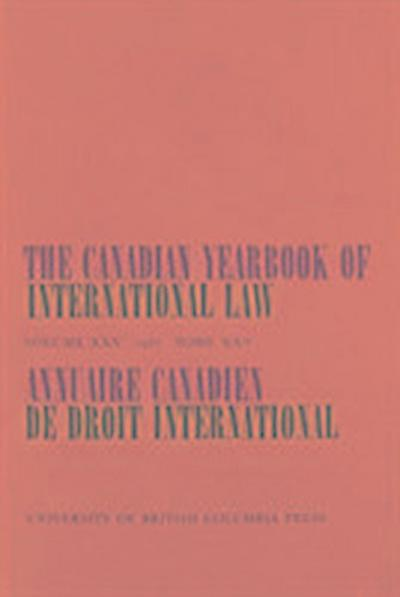 The Canadian Yearbook of International Law, Vol. 25, 1987