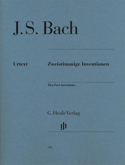 Zweistimmige Inventionen für Klavier zu zwei Händen. Revidierte Ausgabe von HN 169