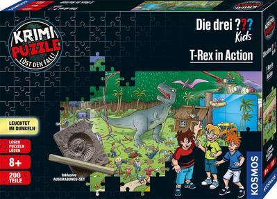 Krimi Puzzle Die drei ??? Kids, T-Rex in Action (Kinderpuzzle)