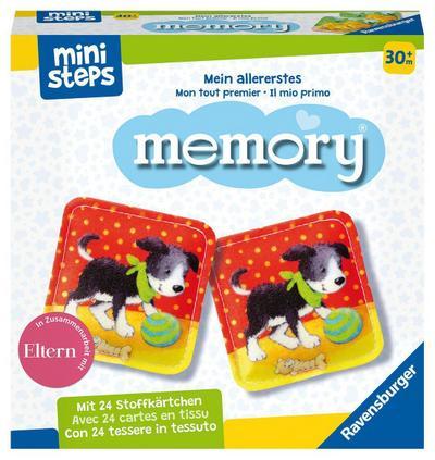 Ravensburger ministeps 4176 Mein allererstes memory - Das klassische Gedächtnisspiel mit 24 Stoff-Karten und süßen Tierkindern, Spielzeug ab 2,5 Jahre