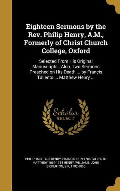 18 SERMONS BY THE REV PHILIP H