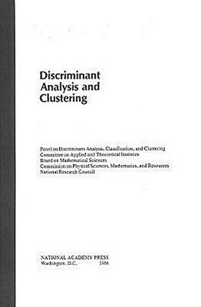 Discriminant Analysis and Clustering