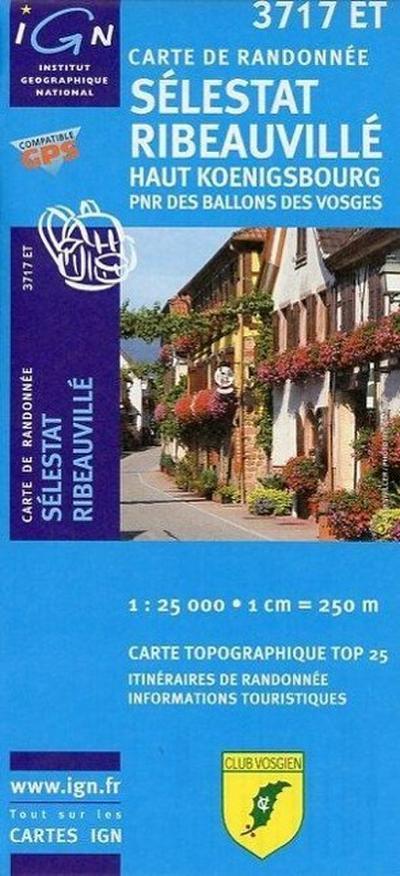 Sélestat Ribeauville 1 : 25 000