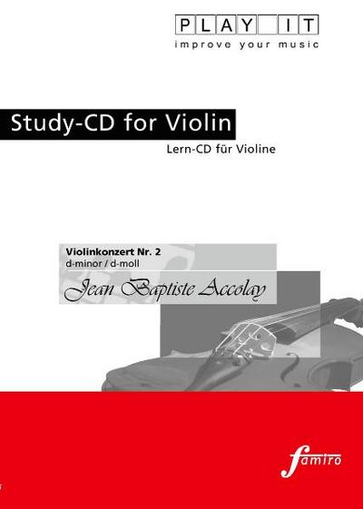 Study-CD for Violin - Violinenkonzert Nr.2,d-moll