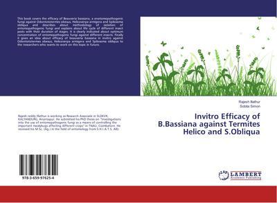 Invitro Efficacy of B.Bassiana against Termites Helico and S.Obliqua