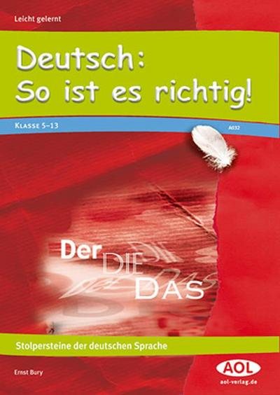 Deutsch: So ist es richtig