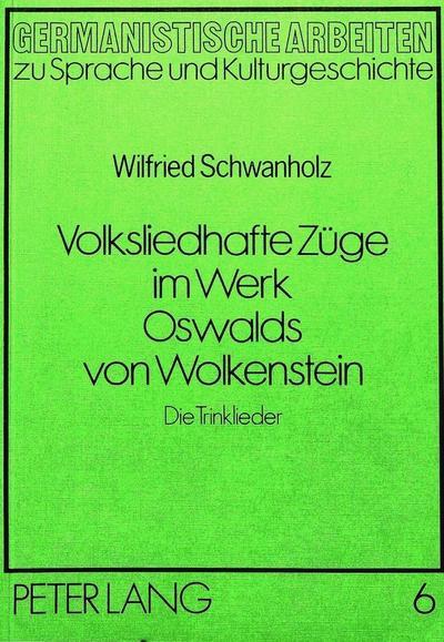 Volksliedhafte Züge im Werk Oswalds von Wolkenstein
